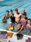 アメリカ留学短期水泳