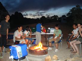 アーチーズ国立公園でキャンプ