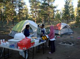 ブライスキャニオンでキャンプ