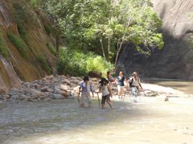 ザイオン国立公園で川下り
